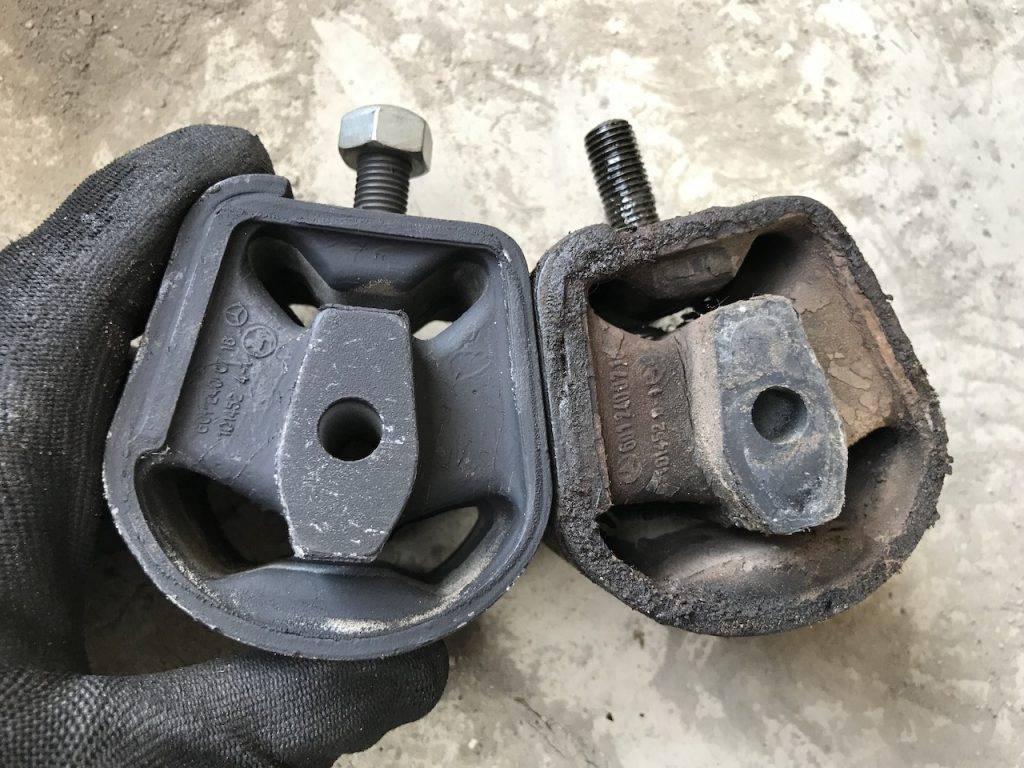 Getriebelager neu und alt - Mercedes T1 310 D